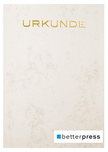 Urkunden Vordrucke Drucker Papier geprägt Reliefprägung 200 g/m² din a4 10 Stück chamois Betterpress Premiumqualität (Gold)