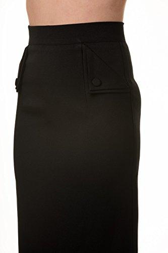 Gebannt Tori Weinlese-Leopard-Druck, schwarz oder rot Bleistiftrock Black