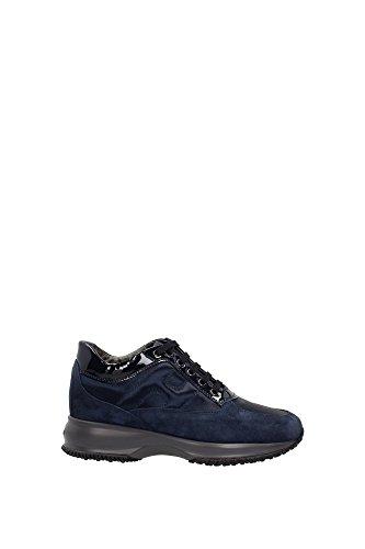 HXW00N0001035X9999 Hogan Sneakers Damen Wildleder Blau Blau