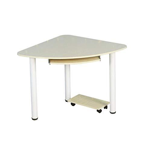 QULONG Eckschreibtisch Aus Massivem Holz, Schreibtisch Tisch Schreibtisch Mit Tastatur Und Ablagefach, Einfacher Und Eleganter Eck-Ecktisch, 28,3 X 28,3 X 29 Zoll (Elegante Eck-schreibtisch)