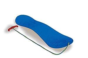 Jamara 460390-Snow Play 72cm Construcción aerodinámica, Cuerda, Patines deslizantes Snowboard, Color Azul (460390)