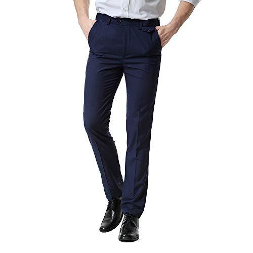 ♚Pantalones Casuales de los Hombres de Negocios, Hombres de Bolsillo de los Casuales de Bolsillo Informal de Negocios de Trabajo Casual Pantalones de pantaló Absolute
