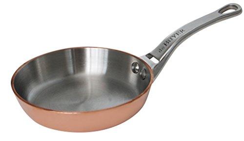 DeBuyer 6424.10 Pfanne, Kupfer, braun, 19,2 x 12,2 x 2,2 cm
