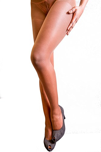 soyonsBLACK Strumpfhosen für dunkle Haut, glänzend - Farbe # 3 - Größe S - Dicke 15 Leugner