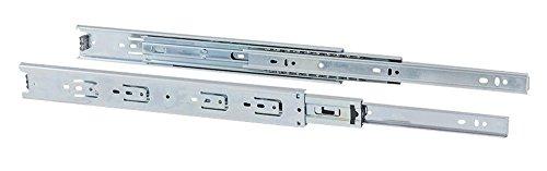 Gedotec Schubladenschiene Vollauszug 500 mm Teleskopschiene - KTA   Tragkraft 30 kg   Teleskopauszug kugel-gelagert   Kugelauszug für aufliegende Montage   1 Paar - Auszüge für Schränke & Schubladen