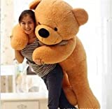CLICK4DEAL LOVEABLE HUGABLE SOFT 5 FEET LONG HUGE BROWN TEDDY BEAR(best for someone special) 152CM
