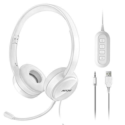 Mpow Auriculares con Micrófono y Cable de 2