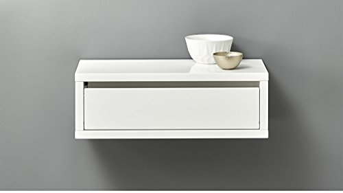 APRODZ MINIMAL WALL MOUNTED STORAGE SHELF-WHITE