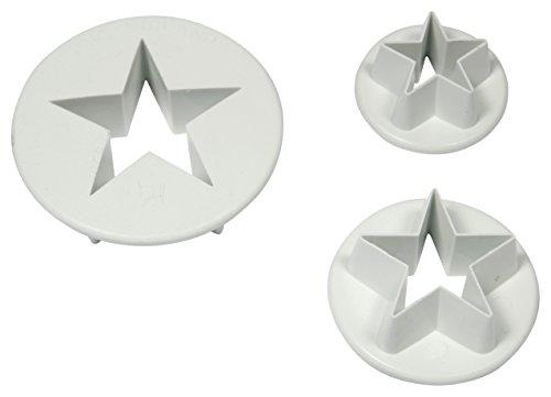 PME SA701 Sternausstecher, kleines, mittleres und großes Format, Kunststoff, Weiß, 4 x 4 x 2 cm, 1 Einheiten -