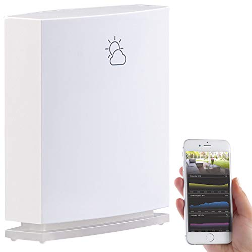 infactory Außensensor: Wetterstation-Datenlogger für iOS & Android mit Bluetooth 4.0 und App (Thermometer Bluetooth)