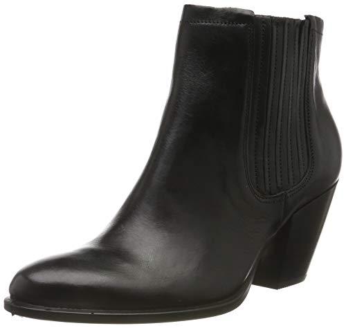 ECCO Shape 55 Western, Botas para Mujer, Negro Black 1001, 40 EU