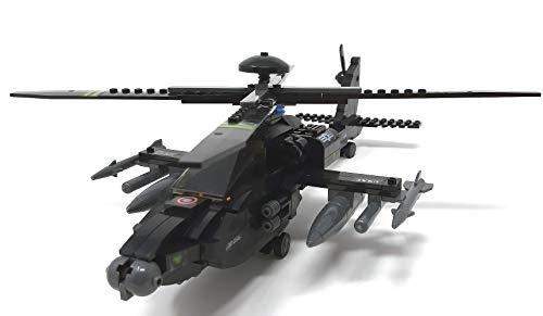 Modbrix 1484020 – ★ Bausteine Apache AH-64 Kampf Hubschrauber mit LED Beleuchtung & Sound inkl. custom US ARMY Special Forces Soldaten aus original Lego© Teilen ★ - 2