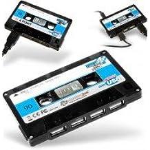 dia del orgullo friki Novelty Gift - Hub USB, diseño de cinta de casete, color negro