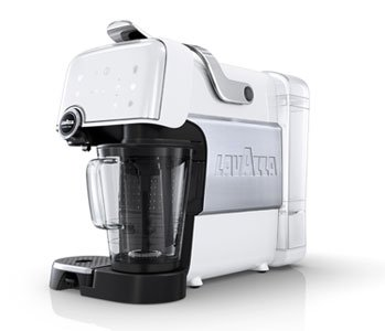 Lavazza Kaffee Maschine Muster Plus, 1200 Watt, Ice White