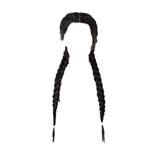Dtuta Langer Skorpion, SchöN Haarteile Zopf Echthaar PerüCken Damen Fasching HaarverläNgerungen