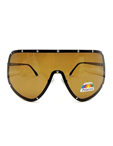 HNPYY Sonnenbrillen Großes Übergroßes Schild Polarisierte Verspiegelte Sonnenbrille Für Frauen Männer, F.
