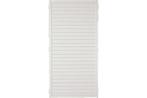 Sichtschutzzaun Kunststoff weiß 90 x 180 cm (Serie Juist)