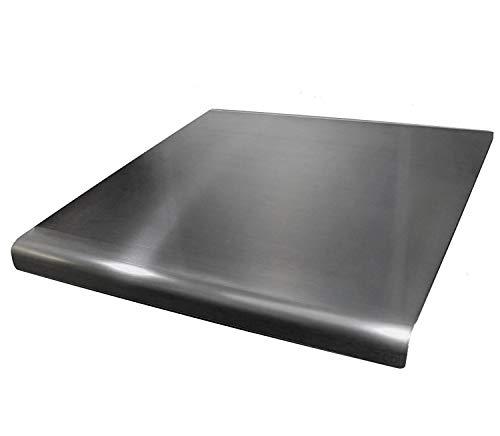 Tagliere in acciaio inox con bordo quadrato, piatto o rotondo. Vedi tutte le varianti di misure + prezzi (include piedini in gomma antiscivolo). 450 x 450mm Round Fold Silver