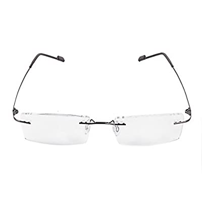 Royal Son Rimless Rectangular Spectacle Frame For Men And Women (WHAT0810|50|Transparent Lens)
