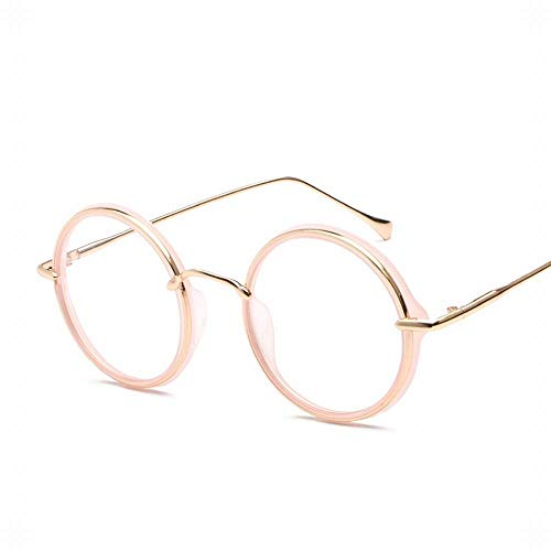 WULE-RYP Polarisierte Sonnenbrille mit UV-Schutz Frauen und Männer Runde Full Frame Vintage Metall Flat Mirror Glasses Frame. Superleichtes Rahmen-Fischen, das Golf fährt (Farbe : Rosa)