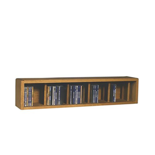 Oak Finish Media (Cdracks Media Furniture Solid Oak Desktop or Shelf CD Cabinet Capacity 67 CD's Honey Finish by CD Racks)