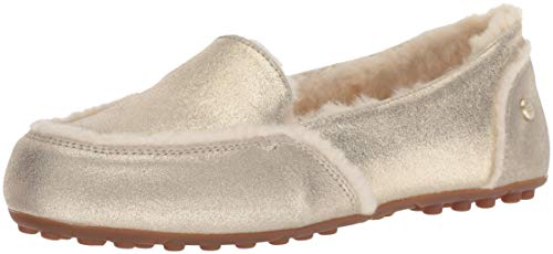 UGG Women's W Hailey Metallic Sneaker, Platinum Gold, 9 M US