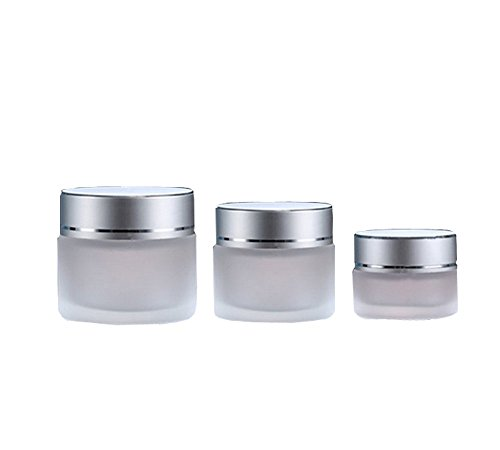20g : 10g/20g/30g 2PCS Clear Glass Refillable Cosmetic Jars Empty Face Cream Lip Balm Storage Container Pot Bottle With White Lids (20g)