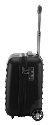 HAUPTSTADTKOFFER - Tegel - Pilotentrolley Hartschalenkoffer Koffer Handgepäck Trolley Rollkoffer, TSA, 38 cm, 32 Liter, Schwarz - 4