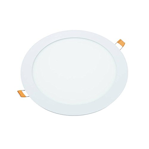 Downlight led 18W redondo plano de empotrar luz blanca fria 6000K, aluminio...