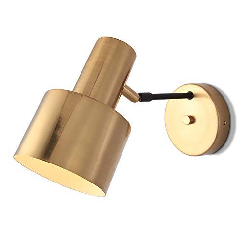JINGD Moderne minimalistische Persönlichkeit goldene Wandleuchte, kreative Schlafzimmer-Nachttischleuchte