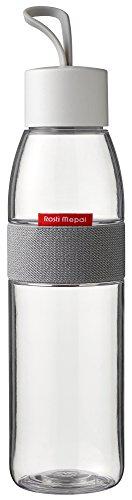 Glas-wasser-flaschen Schraubverschluss (Rosti Mepal Wasserflasche Ellipse Polyethylenterephthalat/ABS 6,3x 6,3x 27cm, 500ml, durchsichtig, 6.3 x 6.3 x 27 cm)