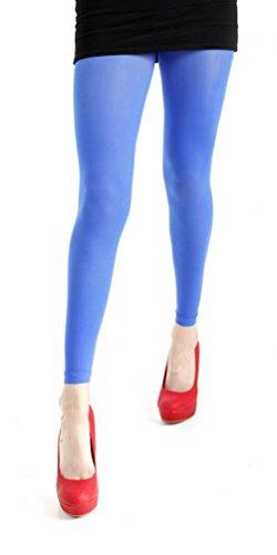 Pamela Mann Neon 50denari Footless collant senza piede Neon Blau - Flo Blue M