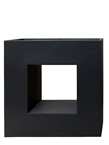 PFLANZWERK® Pflanzkübel VISTA Anthrazit 69x68x29cm *Frostbeständig* *UV-Schutz* *Qualitätsware*
