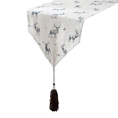 Chemin de table Chemin de table, nappe blanche pour le mariage d'anniversaire Fournitures de famille Tapis de famille Tapis de café Literie d'hôtel (Couleur : Blanc, taille : 33×220cm)