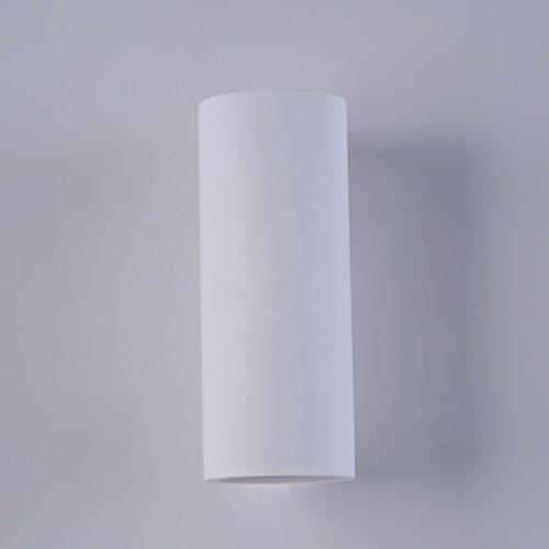 Applique Murale, Style Moderne, design ultramoderne, Armature en plâtre couleur blanc, pour le Salon, le Bureau, couloir, cuisine, sejour, salle a manger, 2 ampoules, excl. 2x G10 10W 220V