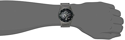 Kenneth Cole Men's Quartz Watch with Black Dial Analogue Display and Black Stainless Steel Plated Bracelet KC9189