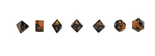 Philos 7795 - Würfel, oblivion, 7er Beutel, orange (Würfel Orange Beutel)