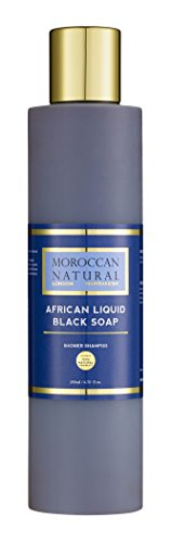 African Liquid Black Soap 200ml by Moroccan Natural