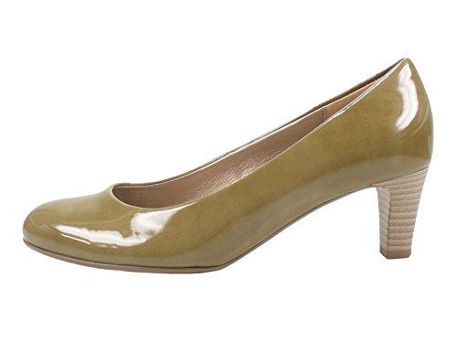 Gabor 95-300 Schuhe Damen Kaffir Lack Pumps Weite F, Schuhgröße:38.5 EU, Farbe:Grün