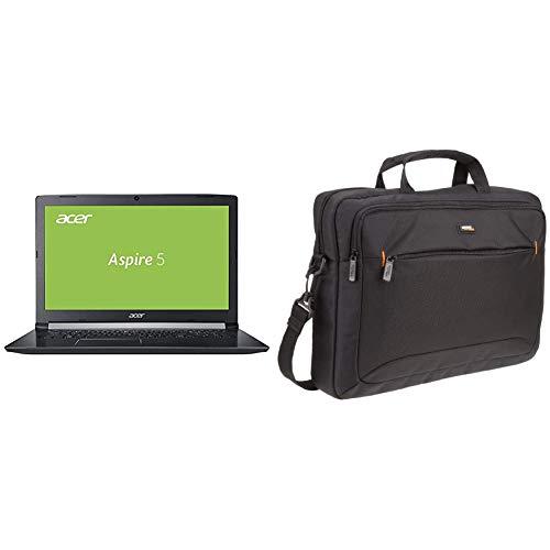 Acer Aspire 5 A515-51G-58EV 39,6 cm Multimedia Notebook (Intel Core i5-8250U, 8GB RAM, 128GB SSD, 1.000GB HDD) schwarz & AmazonBasics Tasche für Laptop / Tablet mit Bildschirmdiagonale 15,6Zoll (15 Acer Zoll Tablet)