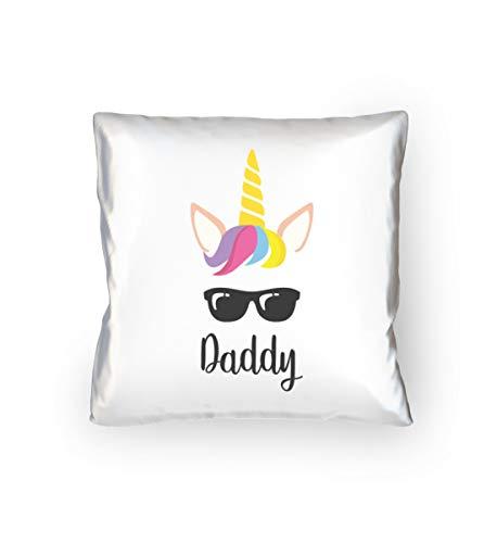Daddy Einhorn Partnerlook Kissen Für Papa Und Tochter Sofakissen Couchkissen Accessoire - Kopfkissen 40x40cm -40cm x - Tochter Daddy Kostüm
