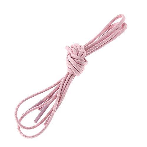 Les lacets Français - Lacets Ronds Coton Ciré Couleur Rose Oeillet