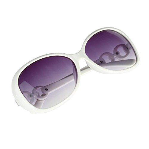 Cheriee Fashion Vintage Women Shades Oversized Eyewear Classic Design Sunglasses in White 1 Pack