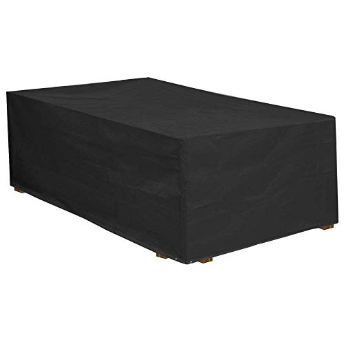 Little east Cubierta para Muebles de Exterior, Cubierta de Parrilla de protección de ratán Impermeable de jardín Negro ( Size : 308*138*98cm )