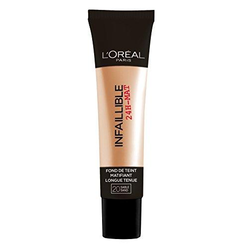 L'Oréal Paris Infaillible 24H Fond de Teint Matifiant 20 Sable 35 ml