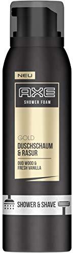 Axe Duschschaum & Rasur Gold Oud Wood & Fresh Vanilla, 3er Pack (3 x 200ml)