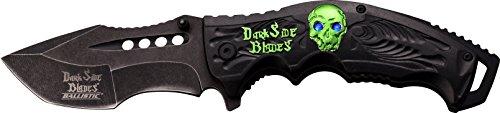 Dark Side Blades Navaja Green Skull with