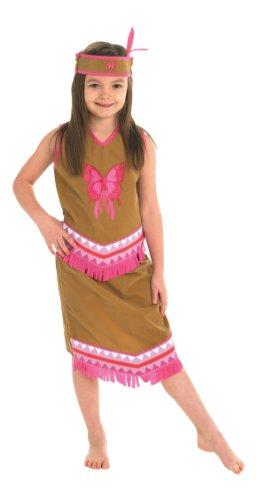 Indianer Squaw Kostüm für Kinder Karneval Verkleidung Large (Squaw Indian Kostüme)