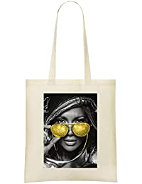 Jennifer Lopez Golden Glasses - Jennifer Lopez Golden Glasses Custom  Printed Shopping Grocery Tote Bag 100 bd85bd6c604