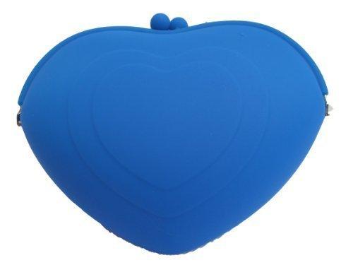 fat-catz-copy-catz , Damen Clutch large blue heart silicone bag